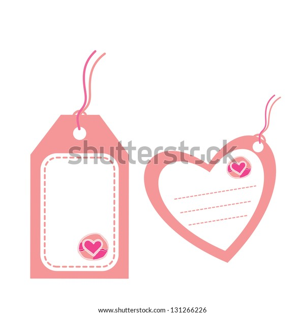 tags of love on white background