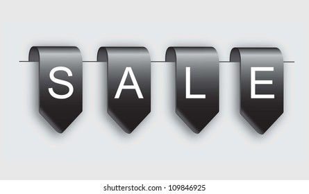 Tags of sale over white background vector illustration
