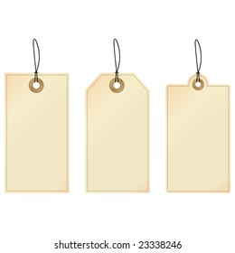 Tags. Set of decorative tags.