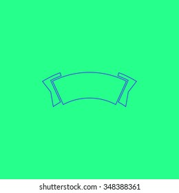 Tags Simple outline vector icon on green background