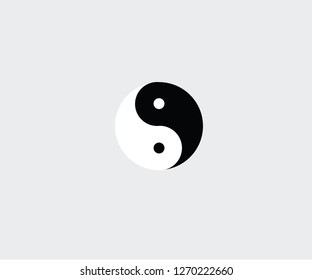 Tai Chi symbol good evil karma icon Chinese