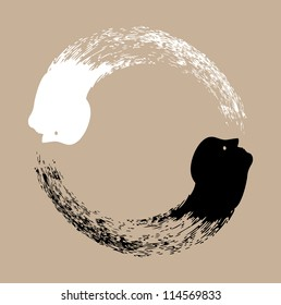 Taichi yin and yang