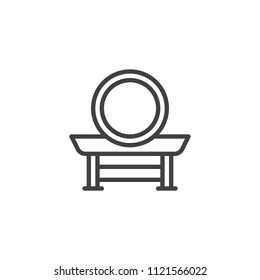 Taiko drum outline icon. linear style sign for mobile concept and web design. Japanese Drum simple line vector icon. Symbol, logo illustration. Pixel perfect vector graphics