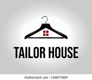 Tailor House Logo. Modern and Elegant Tailor Logo Template