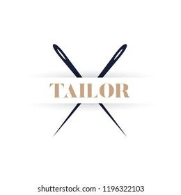 tailor logo. vector design