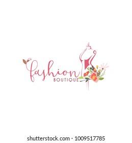 Tailor Sewing Vintage, Fashion, Retro Logo Template Vector Design
