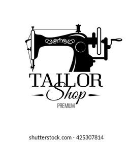 Tailor shop banner or tailor workshop banner.Vector - sewing shop banner. Vector logo tailor shop.