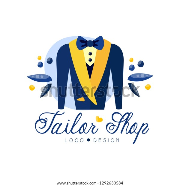 Tailor Shop Logo Design Dressmakers Salon Stock Vector Royalty Free 1292630584