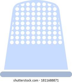 Tailor Thimble Icon. Flat Color Design. Vector Illustration.