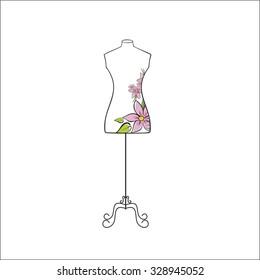 Tailor's mannequin for female body