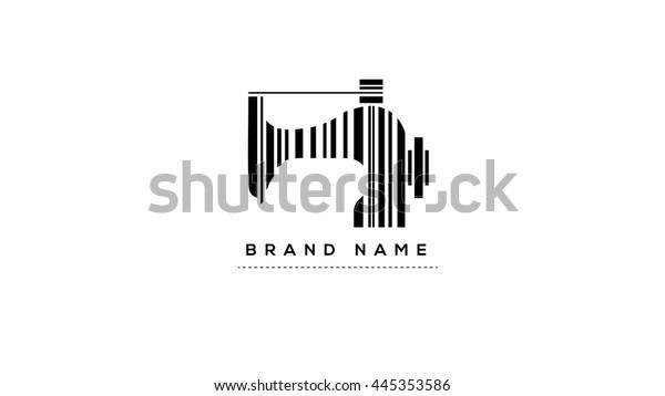 a6e97f080a0a1 Tailor's vector logo template. Fashion logo. Sewing machine logo. Textile  logo. Clothes