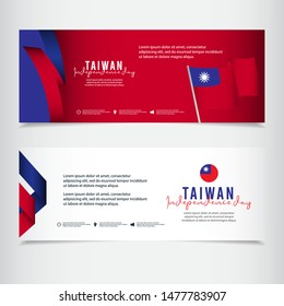Taiwan independence day vector template