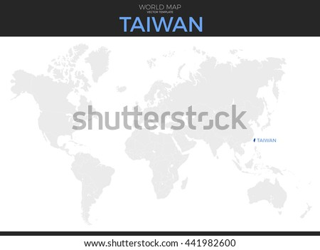 Taiwan On A World Map.Taiwan Location Modern Detailed Vector Map Stock Vector Royalty