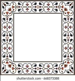 taj mahal ornamental frame