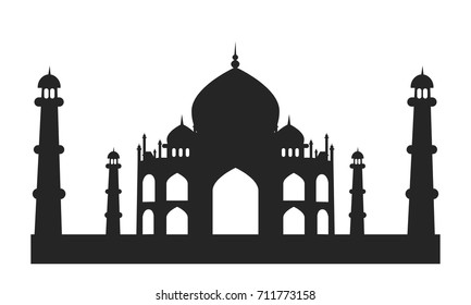 tajmahal symbol of love Indian famous monument silhouette