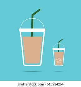 take away coffee cup flat icon. Vector EPS 10 for design.