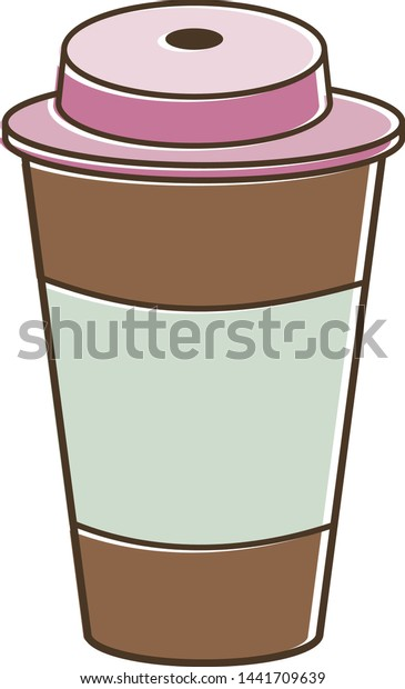 Take Away Coffee Cup Icon Disposable Stock Vector Royalty Free 1441709639