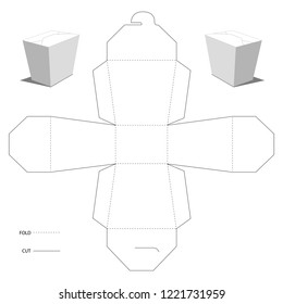 Take away packaging for fast food. Vector layout.