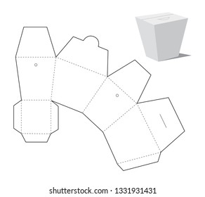 Take away packaging for fast food. Vector layout. - Vector