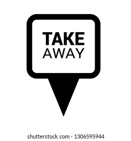 take away text and map pin. logo concept. Designed for your web site design, logo, app, UI.Take away sticker and Tag set