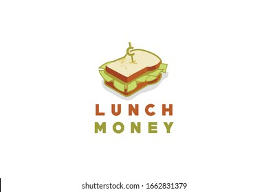 Take a big bite of this money sandwich logo that will be perfect for a financial blog, money advice website, wealth management, lunch and learn classes, financial publishing and more.