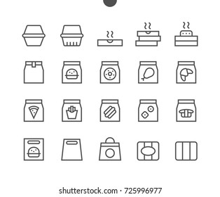 Take Out UI Pixel Perfect Well-crafted Vector Thin Line Icons 48x48 Ready for 24x24 Grid for Web Graphics and Apps with Editable Stroke. Simple Minimal Pictogram Part 1-3