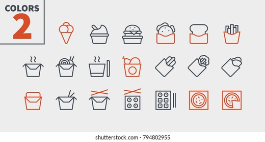 Take Out UI Pixel Perfect Well-crafted Vector Thin Line Icons 48x48 Ready for 24x24 Grid for Web Graphics and Apps with Editable Stroke. Simple Minimal Pictogram Part 2-3