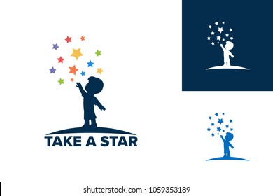Take a Star Logo Template Design Vector, Emblem, Design Concept, Creative Symbol, Icon