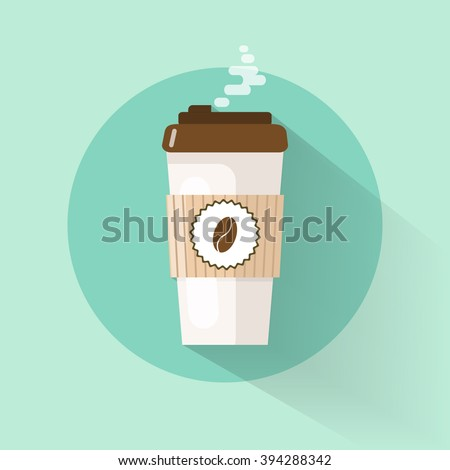 takeaway coffee cup coffee bean logo stock vector royalty free