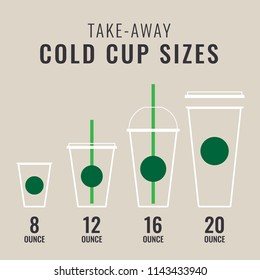 Take-Away Cold Cup Sizes