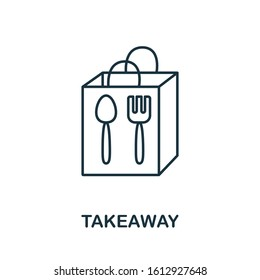 Takeaway Food icon. Line style symbol from shopping icon collection. Takeaway Food creative element for logo, infographic, ux and ui