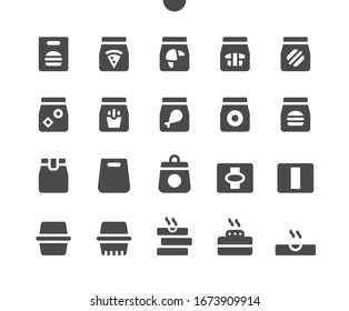 Takeaway (Take out) v1 UI Pixel Perfect Well-crafted Vector Solid Icons 48x48 Ready for 24x24 Grid for Web Graphics and Apps. Simple Minimal Pictogram