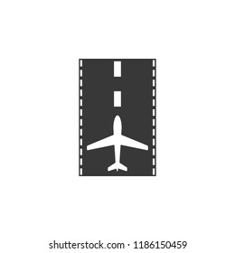 takeoff and landing strip icon. Element of airport icon. Premium quality graphic design icon. Signs and symbols collection icon for websites, web design, mobile app  on white background