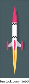 takeoff of toy rocket