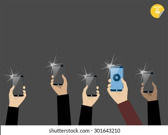 taking picture with smart phone,snapshot with smartphone