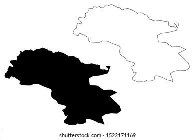 Talas Region (Kyrgyz Republic, Kirghizia, Regions of Kyrgyzstan) map vector illustration, scribble sketch Talas map