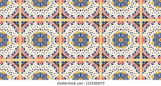 Talavera pattern. Azulejos portugal. Turkish ornament. Moroccan tile mosaic.  Spanish porcelain. c125e1988276