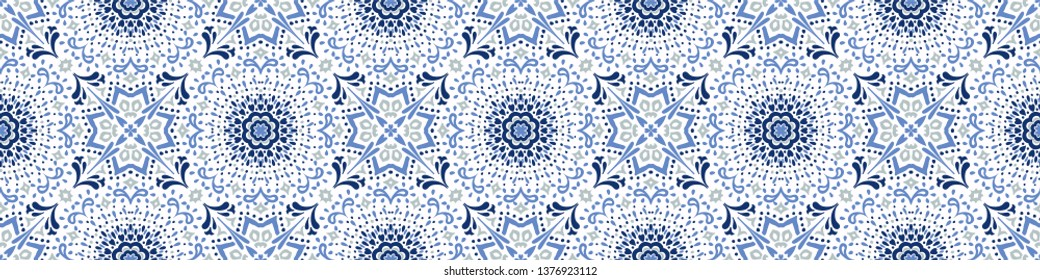 Talavera pattern. Azulejos portugal. Turkish ornament. Moroccan tile mosaic. Spanish porcelain. Ceramic tableware, folk print. Asian pottery. Ethnic background. Mediterranean  wallpaper. Art Deco.
