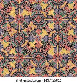 Talavera pattern. Azulejos portugal. Turkish ornament. Moroccan tile mosaic. Spanish porcelain. Ceramic tableware, folk print. Asian pottery. Ethnic background. Mediterranean seamless wallpaper.