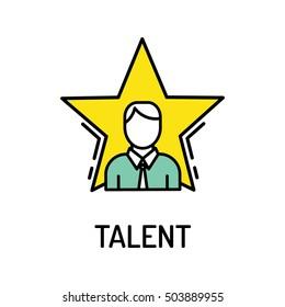 Talent Line Icon