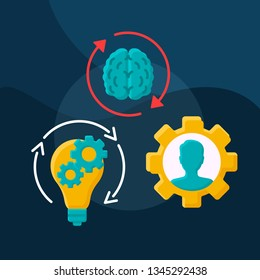 Talent management flat concept vector icon. Developing and retaining employee idea cartoon color illustrations set. High-potential specialist coaching, mentoring. Isolated graphic design element