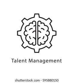 Talent Management Vector Line Icon