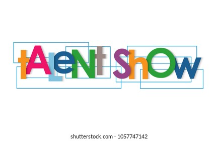 Talent show vector letters