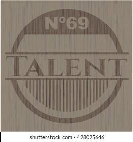 Talent wood emblem. Retro
