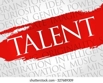 Talent word cloud, business concept