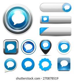 Talk bubble icon