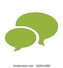 Talk bubble icon. flat illustration of Talk bubble vector icon for web