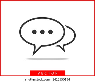 Talk bubble speech icon. Blank empty bubbles vector design elements. Chat on line symbol template. Dialogue balloon sticker silhouette.