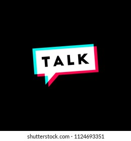 Talk Design Vector