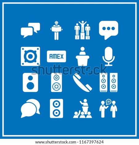 Talk Icon This Set Telephone Amex Stock Vector Royalty Free